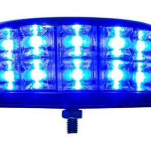 D101448-Bljeskalica plava LED Baquda,okrugla 2P,C2,fiksna, 12-24V